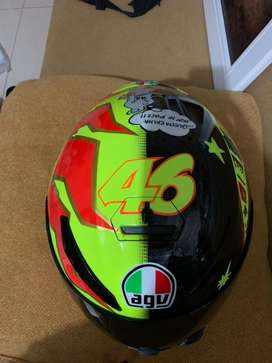 Helm AGV K3Sv repaint sun and moon! Lengkap ..