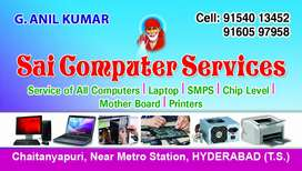 Computers laptops servicing