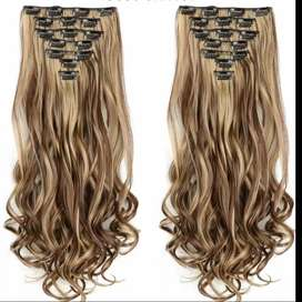 heat proof 16 clips synthetic extensions