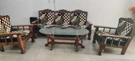 Five seater solid wood sofaset