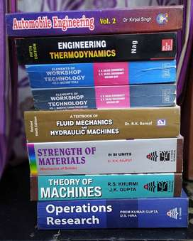 Mechanical Engineering SY ,TY books