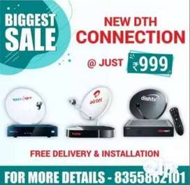 AIRTEL, TATA SKY and DISH New DTH Connection HD Set top box .