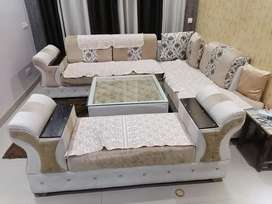 8 seater sofa with luxury table