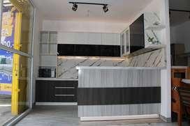 Kitchen Set Custom + Meja Bar Modern Minimalis