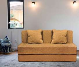 Sofa cum bed 6x3 with cushion for loved once