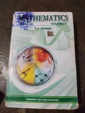 R. D. Sharma Mathamatics class 12