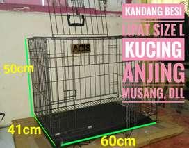 Kandang Kucing Besi Lipat Size L 60cm