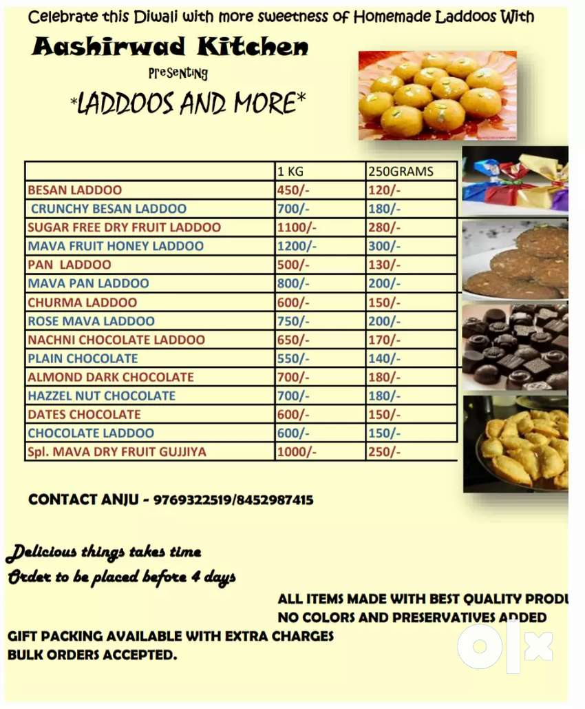 Home made laddoos without preservatives 0