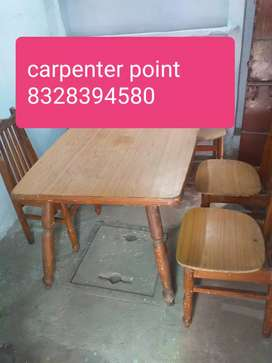 Dinning table teakwood cheaply sale with 6 chairs