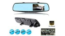 Mobil DVR Dash Kamera Perekam Kaca Spion Lensa Tunggal