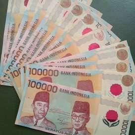 uang kuno 100000 tahun 1999