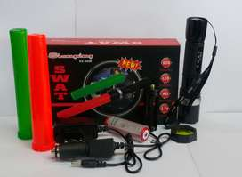Senter Swat Police 2 Lalin cone / Flaslight kompas 2 lalin SX-8008A