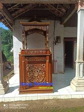 Mimbar masjid motif kubah atap kode TFJ 00477