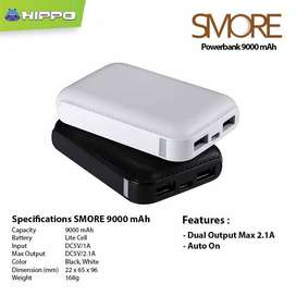 Power Bank Hippo SMORE 9000MAH Real Kapasitas - Minat hub WA Bsa GOJEK