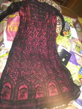 Black n maroon coloured gown