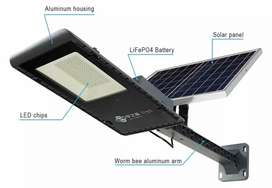 Separate solar panel with led streetlight all in one aluminium body