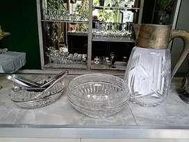 Set Cristal antik 1900 bohmen germany