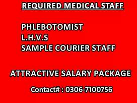 Required medical phlebotomist