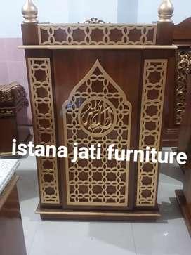 Mimbar masjid khutbah masjid podium mimbar jati