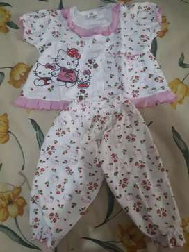 Baju tidur ank perempuan 1thn (hrg per pcs)
