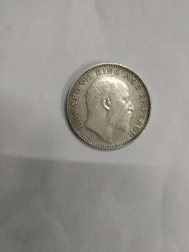 ancient coin 1905, half rupees India (EDWARD Vll KING AND EMPEROR)
