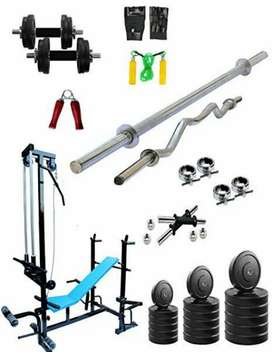 Dumbbell plates rods full home gym pack