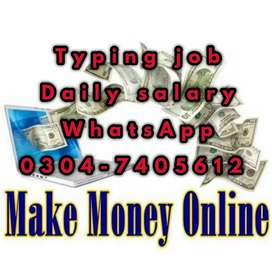 Typing job for students on daily basis. 2824