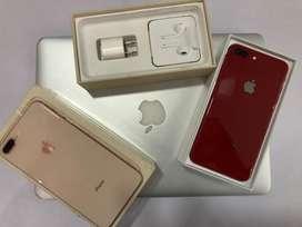 Iphone 8plus 256gb full kit 100% condition