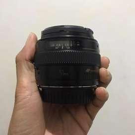 lensa  fix canon 50 mm Usm f1.4 gass