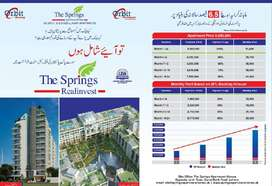 BOOK SPRINGS APARTMENTS ON JUST 20% DOWN PAYMENT GET DISCOUNT 20 LAC