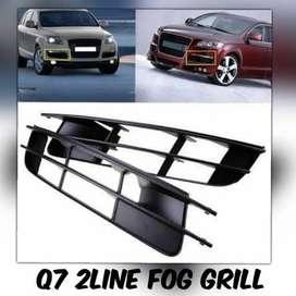 Audi Q7 2 Line Fog Lamp Cover Pair