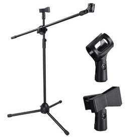 TaffSTUDIO Tripod Holder Mikrofon Pro 2 Klip - NB-107 - Black