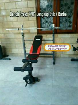 Bench Press Lengkap Barbel + Stik Harga Murah