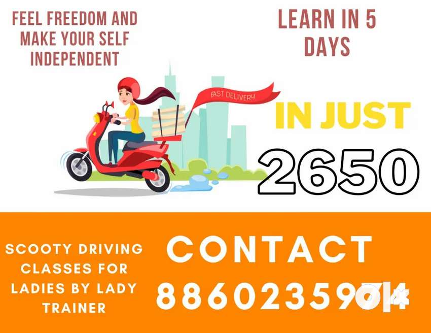 Scooty driving class for women only in delhi