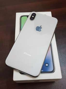 Iphone x 64gb with box charger good condition