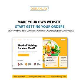 Make Website of Your Restaurant and Stop Paying 35% to Food Delivery.