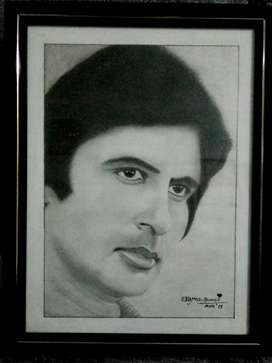 Amitabh Bachchan Pencil Art work