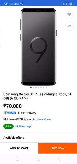 Samsung galaxy s9  plus full new condition urgent sell money prblm