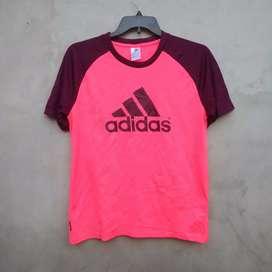 Kaos Adidas Sportwear Jersey Sepeda Lari Joging Climalite Original