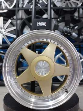 Jual HSR WHEEL Perugia Ring 17x7,5/8,5 H8(100/114, 3) Gold Polish