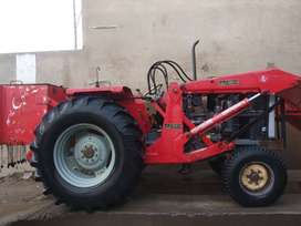 Tractor Massy 385 with AECO loader for sale