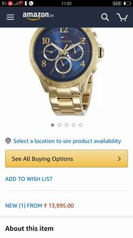 Very less used branded watch
