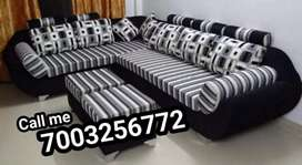 L shape sectional sofa seat's