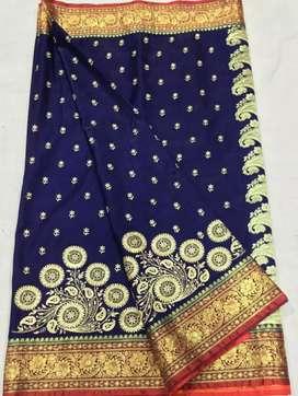 Banarasi satin silk pattu saree
