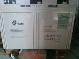 New Solar Calcium dry battery cell 2v 3000ah by Shoto