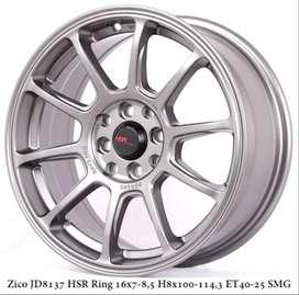 ZICO HSR R16X7-8 H8X100,114,3 ET 40/25 SEMI MATT GREY