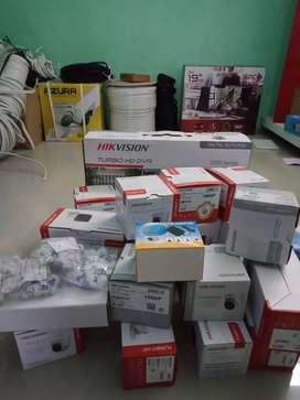 CCTV lengkap outdoor indoor 4 chanel seting ke hp gratis pasang