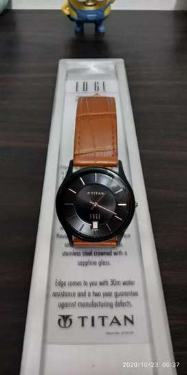 Titan Edge Men's Designer Watch- World's Slimmest watch