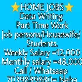 Home jobs data writing