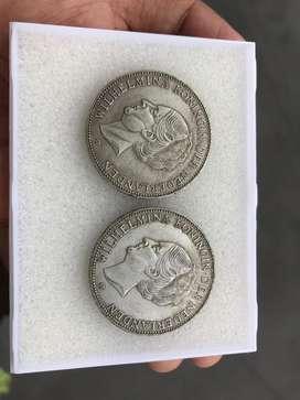 Koin Kuno Wilhelmina 1919 2 Setengah Gulden Edisi Khusus